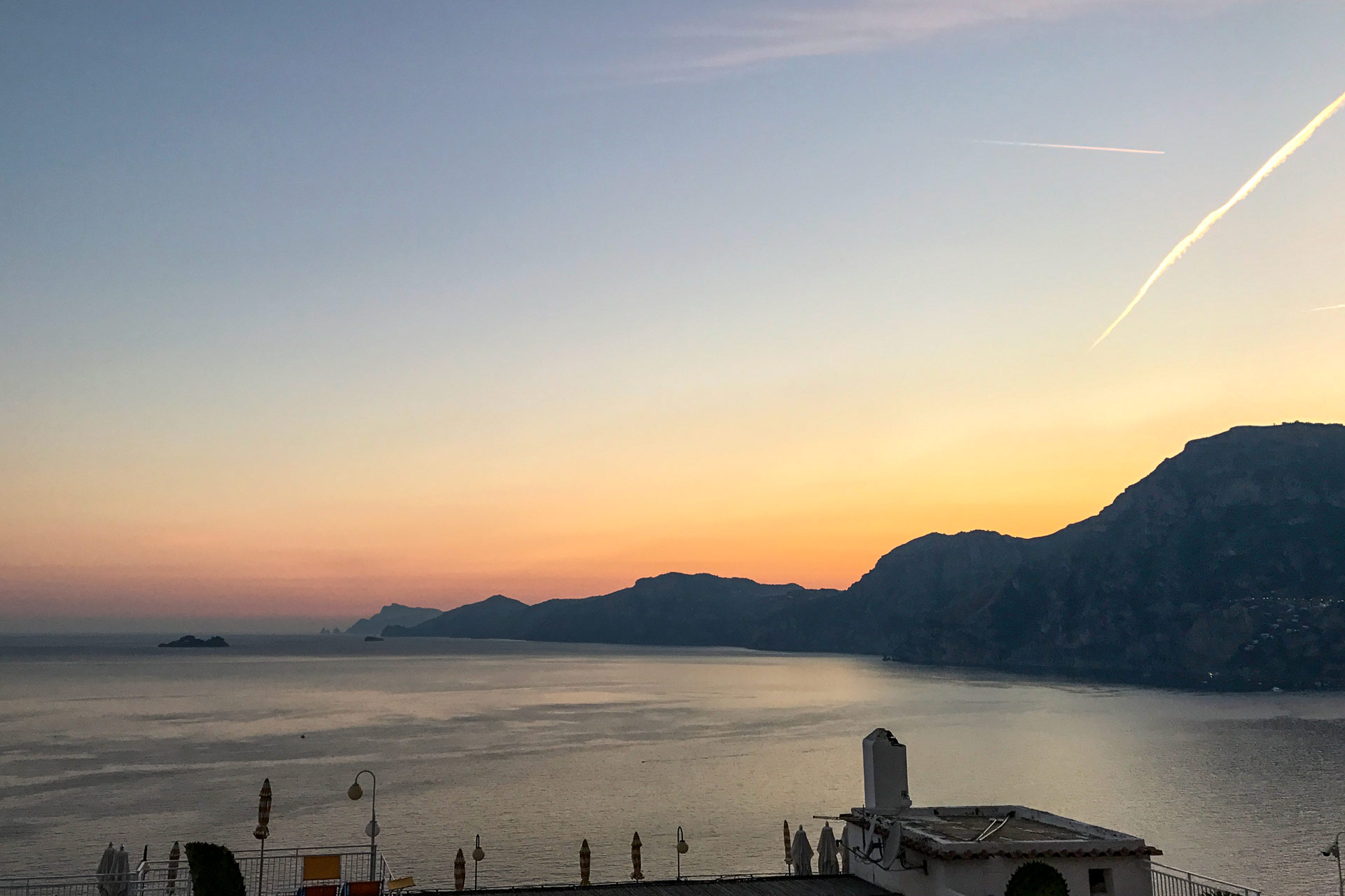 Amalfi coast from praiano